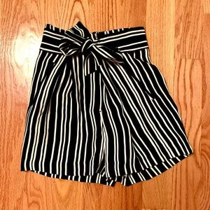 Paperbag High-Waisted Shorts
